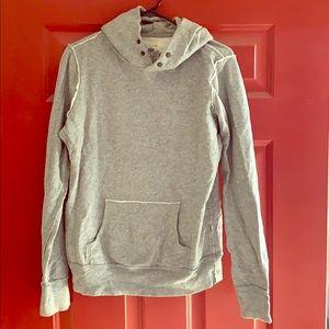 J. Crew Grey Gray Vintage Weathered Pullover Hoody